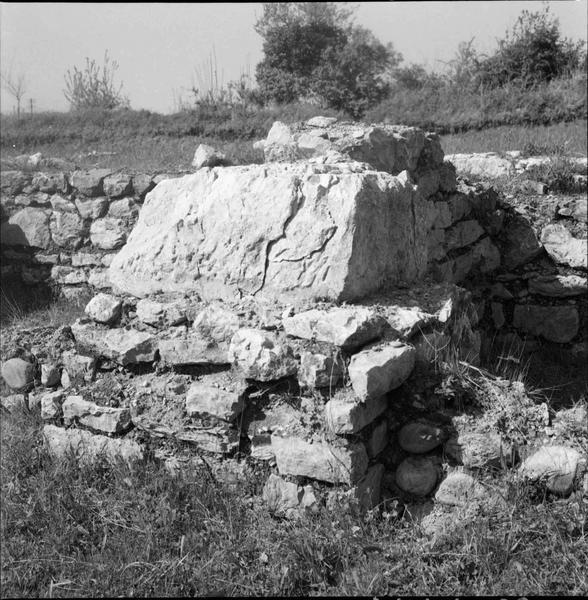 Base d'un mur, détail