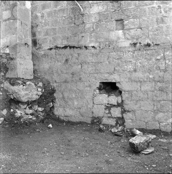 Mur externe, détail : appareil de pierres
