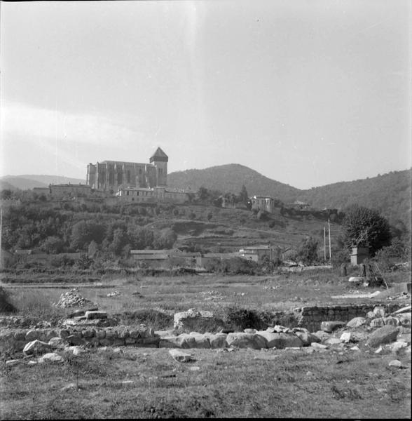 Vue d'ensemble depuis le site archéologique