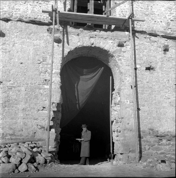 Embrasure d'un portail sans vantaux
