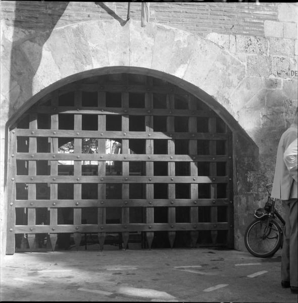Porte et herse