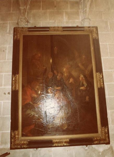 Tableau : Nicolas V au caveau de saint François d'Assise, vue générale