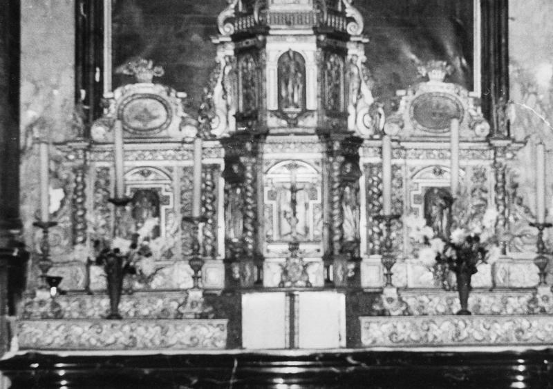 Retable (maître-autel), vue générale du tabernacle