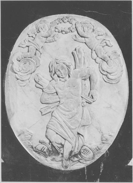 bas-relief : saint Sébastien