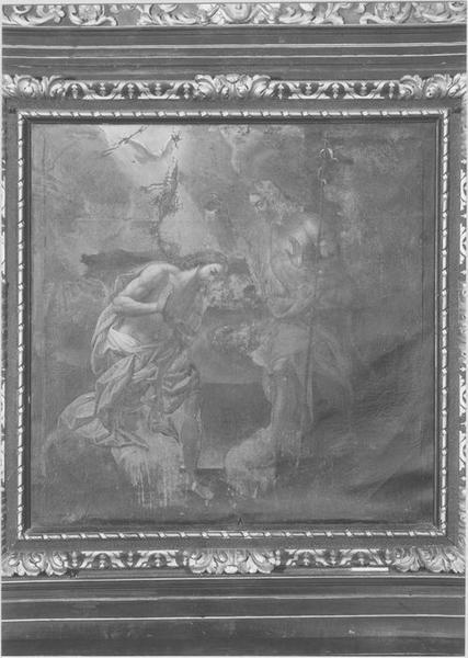 Tableau : le Baptême du Christ. Vue rapprochée