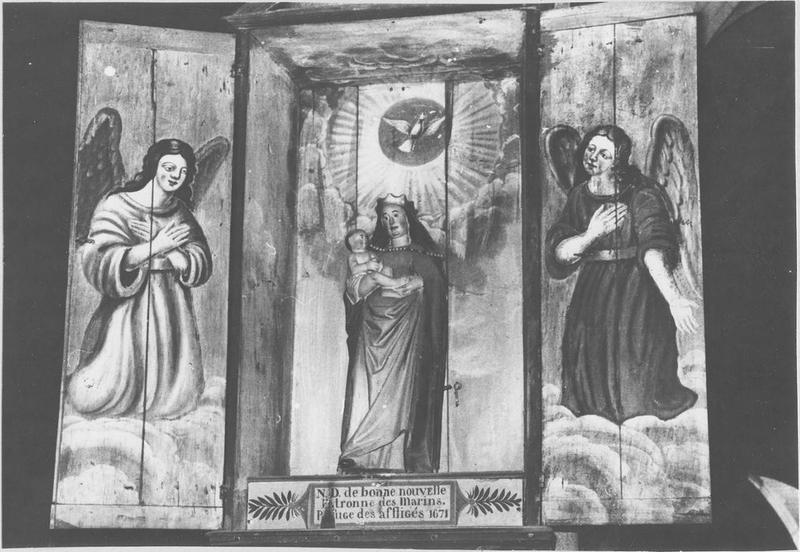 Statue : Vierge à l'Enfant dite Notre-Dame de bonne nouvelle