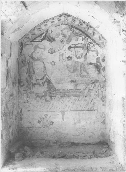 Peinture monumentale: translation du corps de l'abbé Réginald