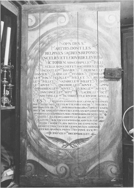 Armoire de sacristie (verso)