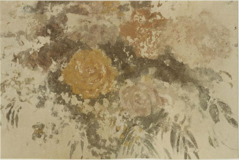 Peinture monumentale : bouquets de fleurs