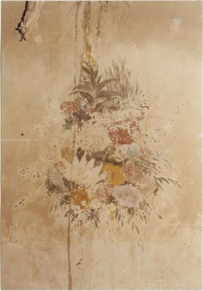 Peinture monumentale : bouquets de fleurs, détail