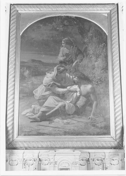 Tableau : saint Sébastien soigné par sainte Irène