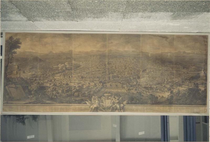 Tableau : vue perspective de Rome