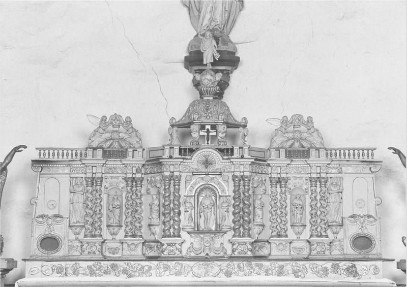 tabernacle et gradins du maître-autel