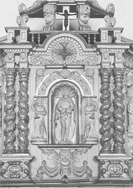 Tabernacle et gradins du maître-autel (détail)