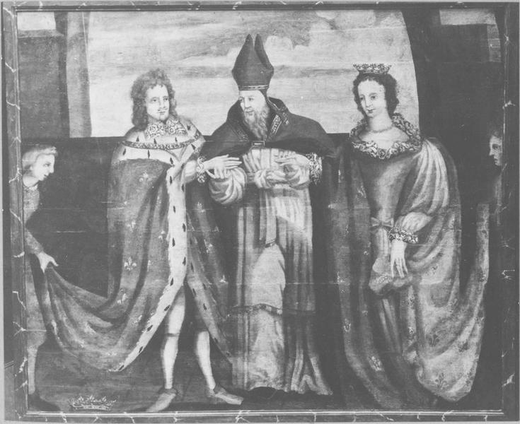 Tableau : le Mariage de Jean V duc de Bretagne avec Jeanne de Navarre