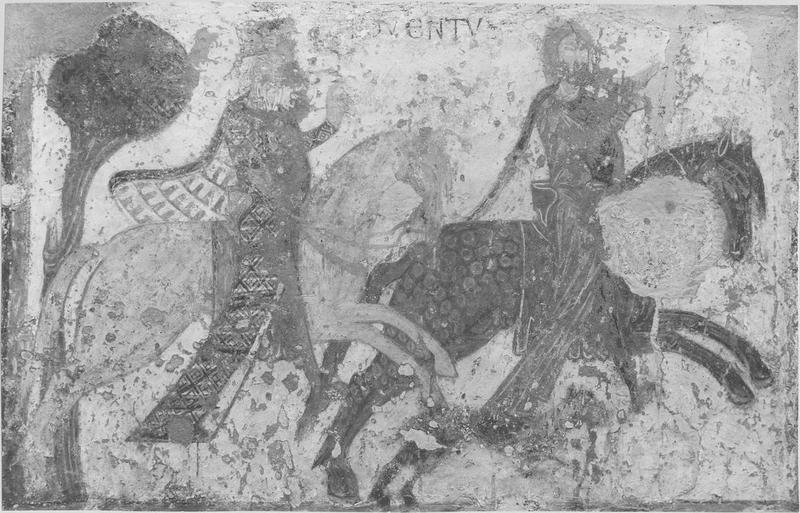 Peinture monumentale : scènes de la légende de saint Gilles