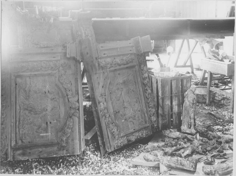 Table d'autel, gradin, tabernacle dits de l'autel des âmes du Purgatoire