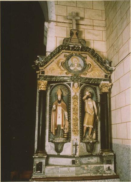 Retable, 2 statues : saint Nicolas, saint Jean-Baptiste