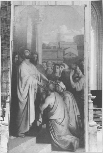 Tableau : saint Clair guérissant les aveugles