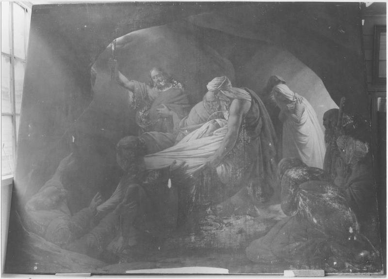Tableau : l'ensevelissement de la Vierge