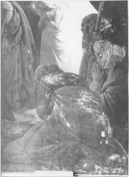 Tableau : l'ensevelissement de la Vierge (détail)