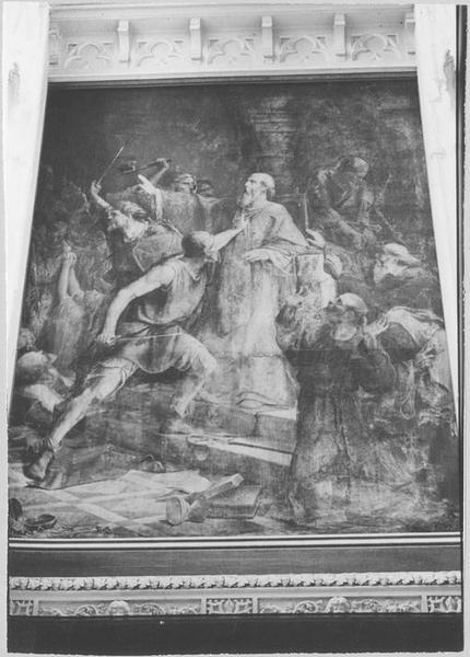 Tableau : le Martyre de saint Gohard