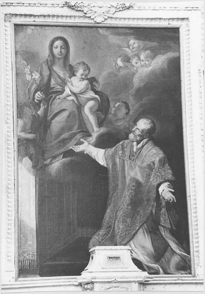 Tableau : saint Charles Borromée ou La Vierge à l'Enfant apparaissant à saint Charles Borromée