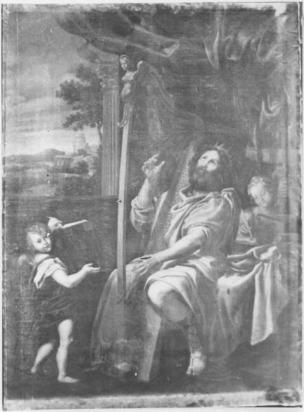 Tableau: David jouant de la Harpe
