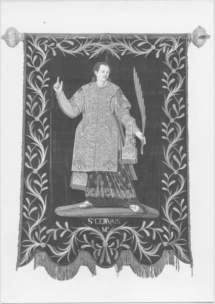 Bannière de procession : saint Gervais