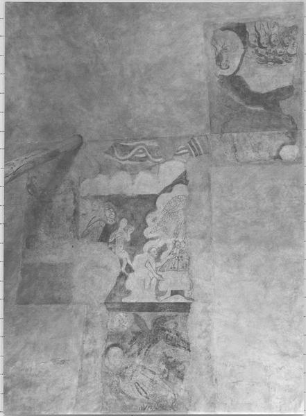 Peinture monumentale : scènes historiées (voûte, côtés nord et sud)