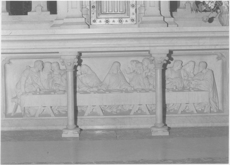 Bas-relief (maître-autel) : la Cène