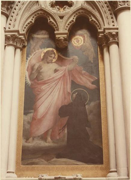 tableau : Apparition du Sacré-Coeur à Sainte-Marguerite Marie