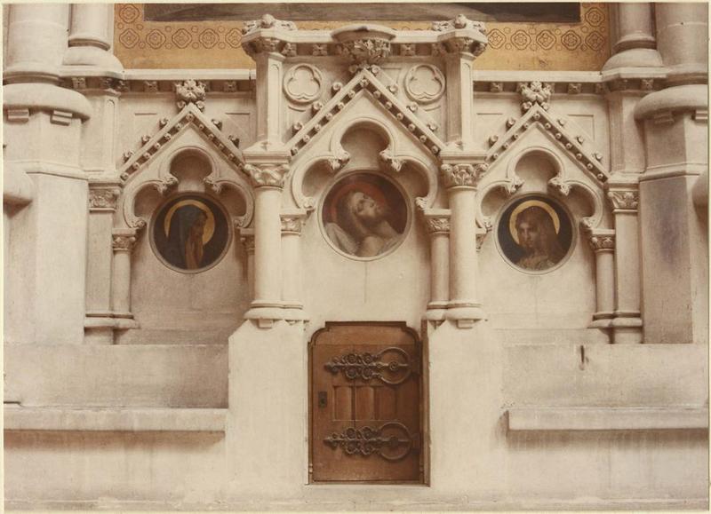 3 tableaux : Vierge, Christ, saint Jean