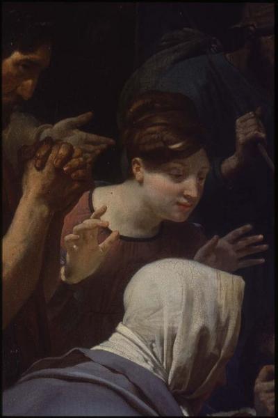tableau : saint Clair guérissant l'aveugle