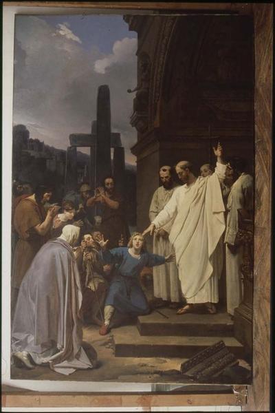 Tableau : saint Clair guérissant l'aveugle, vue générale