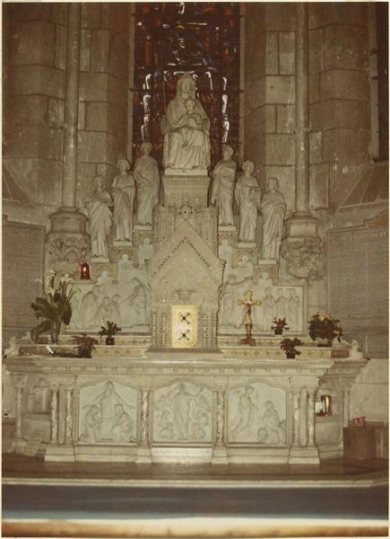 Autel, tabernacle, autel de la Vierge