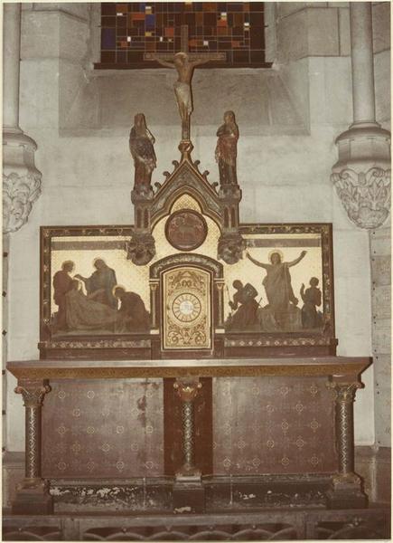 Autel, tabernacle, retable, autel de saint Joseph