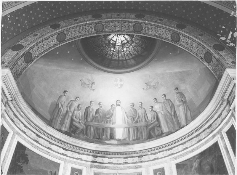 Peinture monumentale de l'abside de la nef