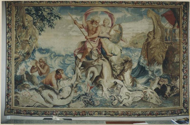 Pièce murale (tapisserie à bordure) : Eau (L')