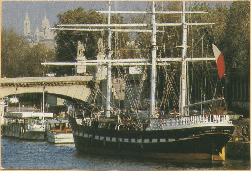 bateau de charge puis bateau école (trois-mâts barque, antillais) : Belem, ex Giorgio Cini, ex Fantôme dit Le Belem