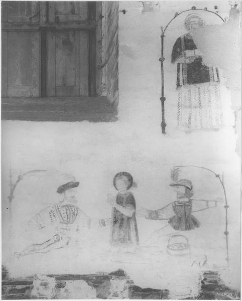 Peinture monumentale: saint diacre, martyre de saint Etienne