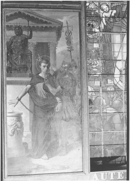 Tableau : saint Donatien refusant de sacrifier aux idoles et conduit au supplice