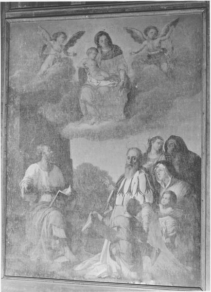 Tableau : saint Yves faisant reconnaître l'innocence d'une jeune veuve