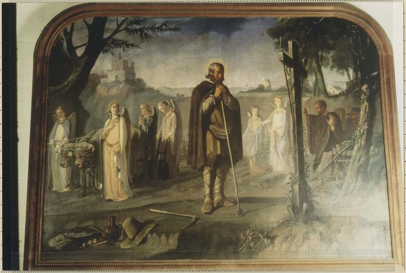 2 tableaux : Saint Isidore et le labour des anges, la Prédication de saint François de Sales