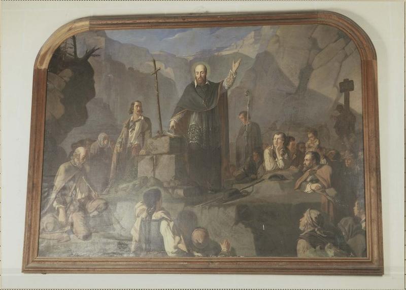 Tableau : la Prédication de saint François de Sales