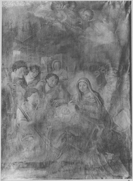 Tableau: l'Adoration des Bergers