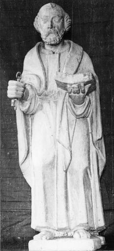 Statue : saint Pierre, bois, 18e siècle