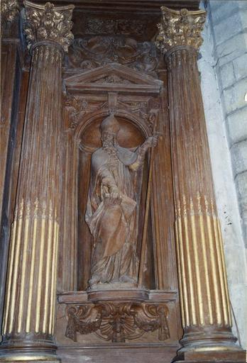Statue du retable : saint Mamert, bois, 17e siècle