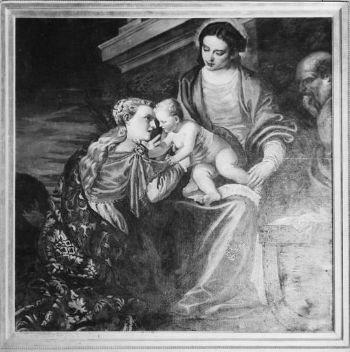 Tableau : Le Mariage mystique de sainte Catherine, copie de Veronèse par Bazille