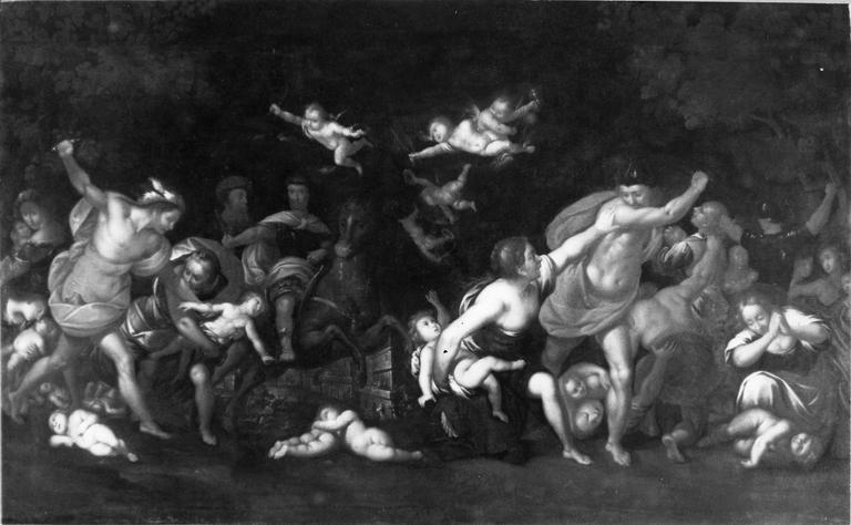 tableau : Le Massacre des Innocents, huile sur toile, après restauration